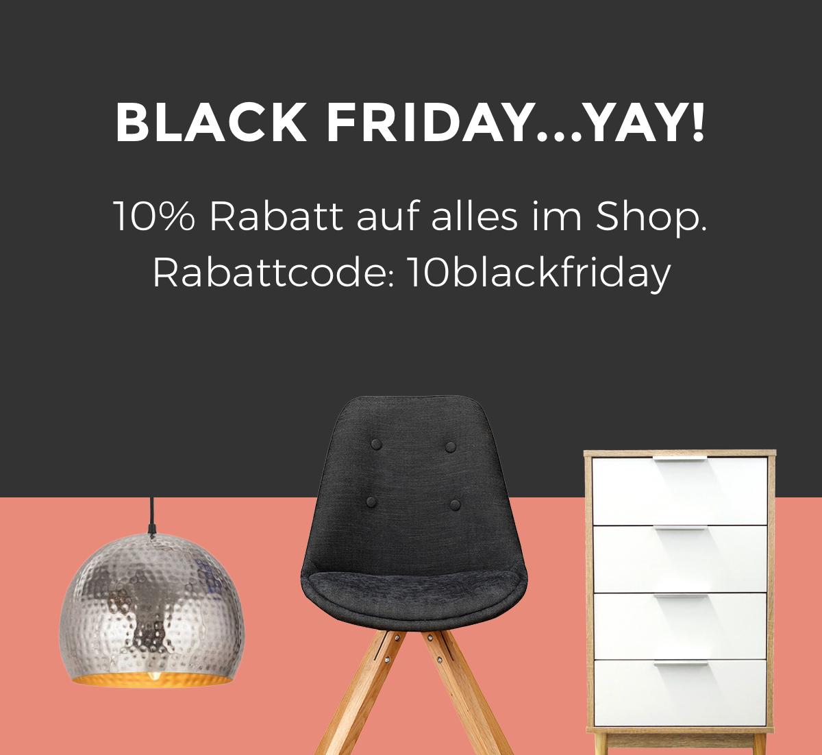 Günstige Möbel: bei 360Living.de 10% Rabatt auf alles im Shop. Rabattcode: 10blackfriday