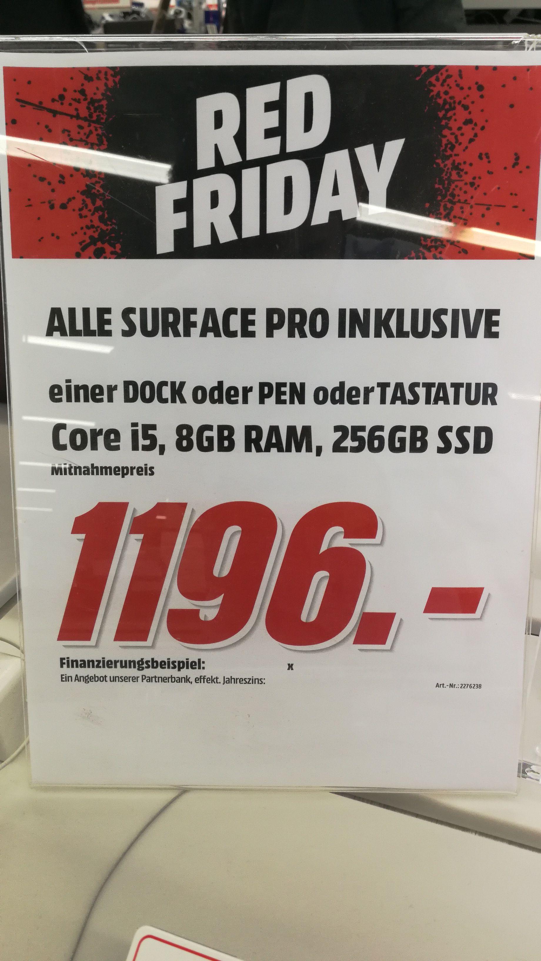 [Mediamarkt Weiterstadt] Alle Surface Pro Modelle inkl. Surface Dock, Surface Pen oder Type Cover je nach Wahl.