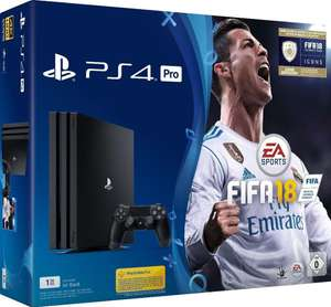Sony Playstation 4 Pro 1 Terrabyte + Fifa 18 im Deal bei REAL