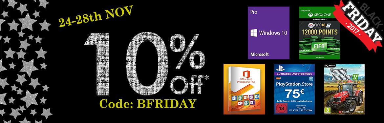 10% Black Friday Gutschein für PS Plus, Xbox Live Nintendo Guthaben etc