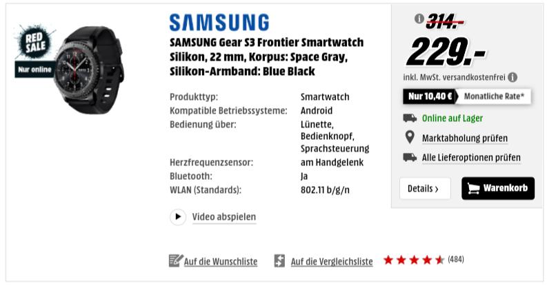 Samsung Gear S3 classic und frontier