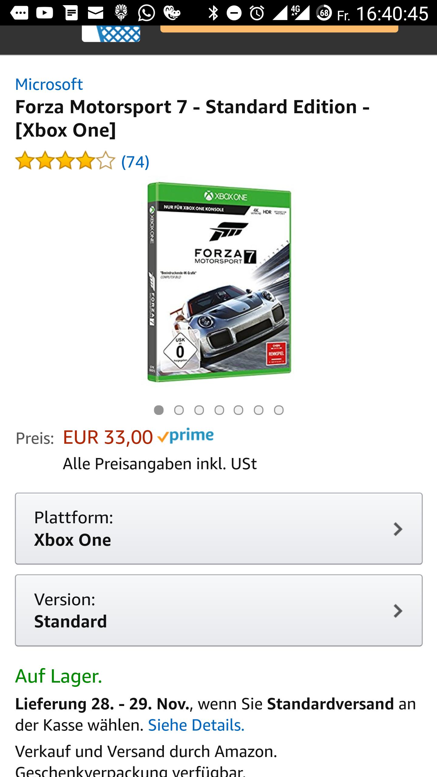 Forza Motorsport 7 - Standard Edition - [Xbox One] Amazon