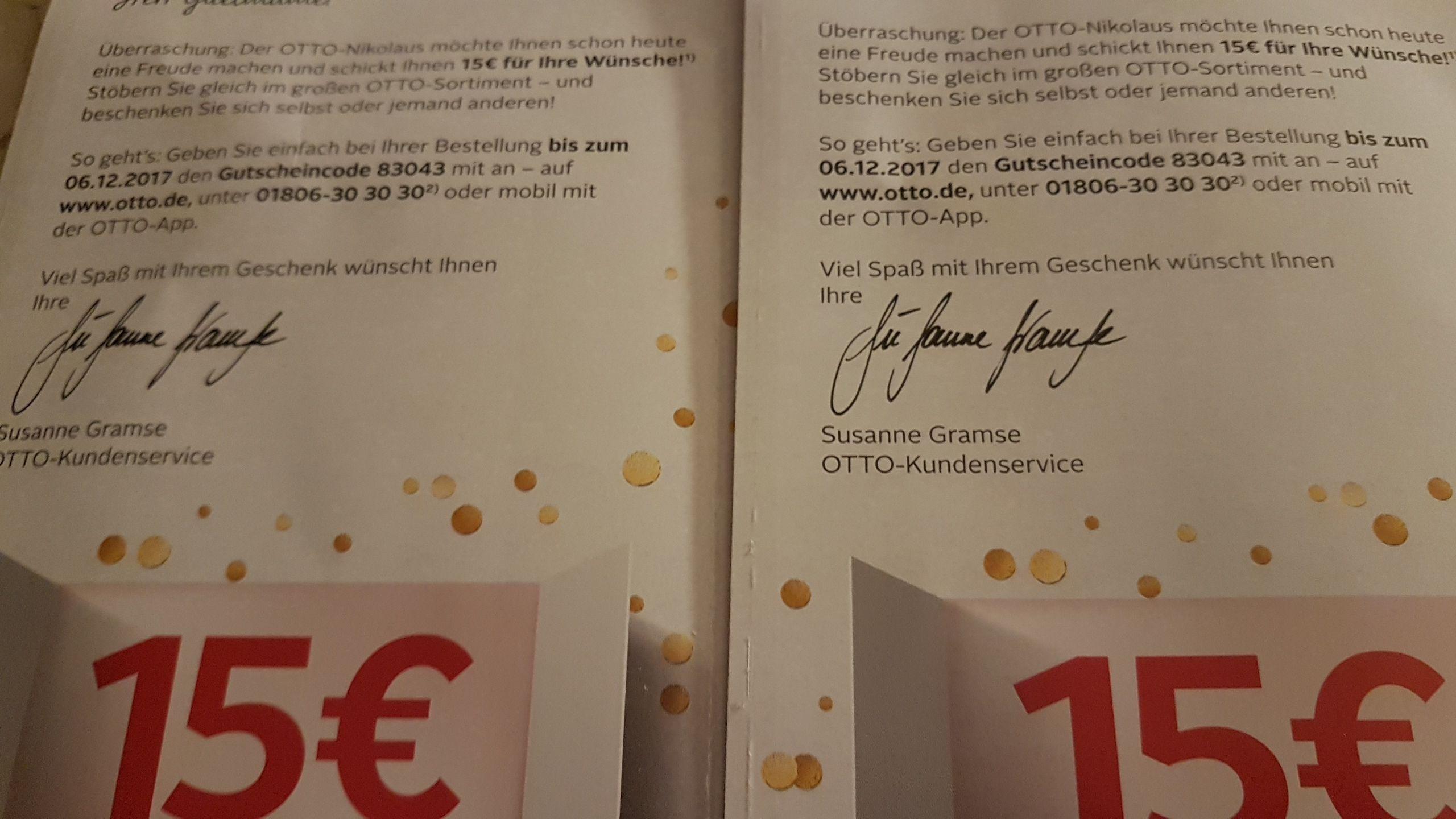 15€ Gutschein @Otto