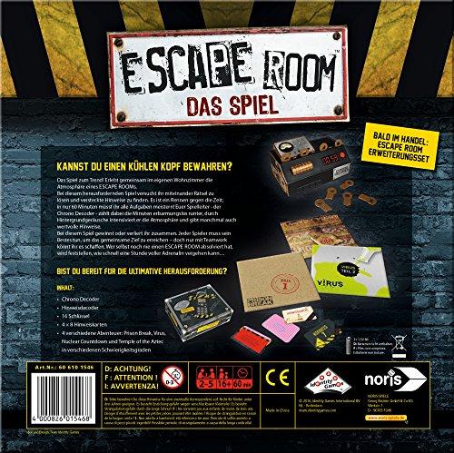 Noris Spiele  Escape Room (606101546) Inkl. 4 Fällen und Chrono Decoder [Amazon PRIME]