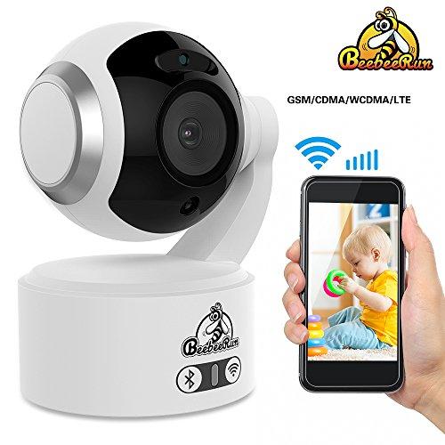 Video Babyphone Baby Monitor mit 1080P HD Kamera Unterstützung Zwei-Wege Audio+ Nachtsicht+Pan Tilt, WiFi Kamera