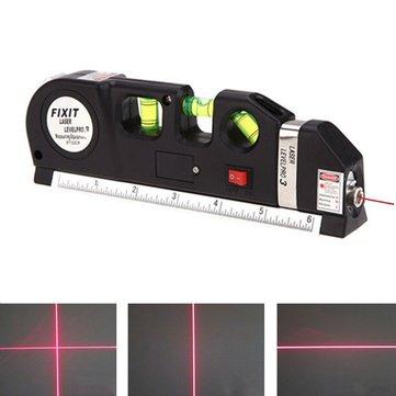 Laser Wasserwaage mit 2,4 Meter Maßband