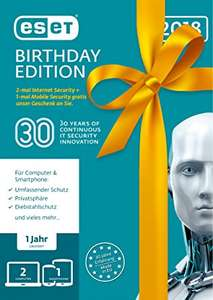 Antivirus [ESET] [BLACK FRIDAY] ESET Birthday Edition 1 Jahreslizenz 45% Rabatt