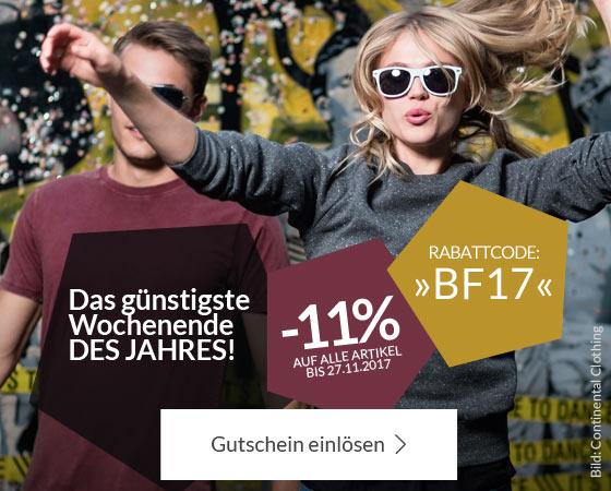 Black Friday Rabatt auf Grundstoff.net, dem Klamotten-Shop für fair produzierte Basics