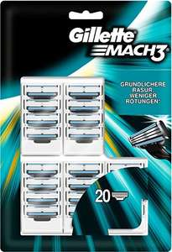 [Amazon Prime] Gillette Mach3 Rasierklingen, 20 Stück, 1,40€ / Stück