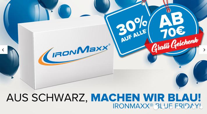 30% Rabatt auf gesamten Einkauf bei IronMaxx