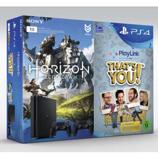 SONY PS4 1TB + 2 Dual Shock Controller, Horizon Zero Dawn und That's You!