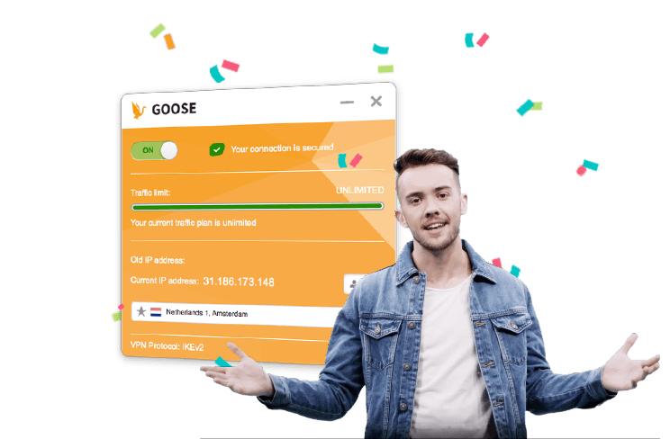 """GOOSE VPN """"Unlimited Tarif"""" für 29,98 statt 59,99 / 50% Rabatt"""