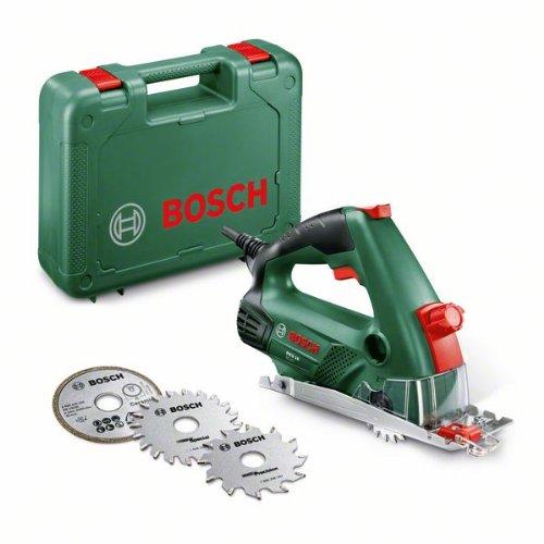 (Amazon) Bosch Mini Kreissäge PKS 16 Multi (2x Sägeblatt, 1x Diamantsägeblatt, Koffer, 400 Watt) nur 75,99€