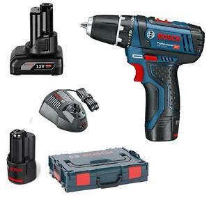 [eBay Plus] Bosch Akkuschrauber GSR 12 V-15 inkl. 2x 2,0 Ah + 1x 4,0 Ah Akku + Schnellladegerät + L-Boxx + Holster für 91€
