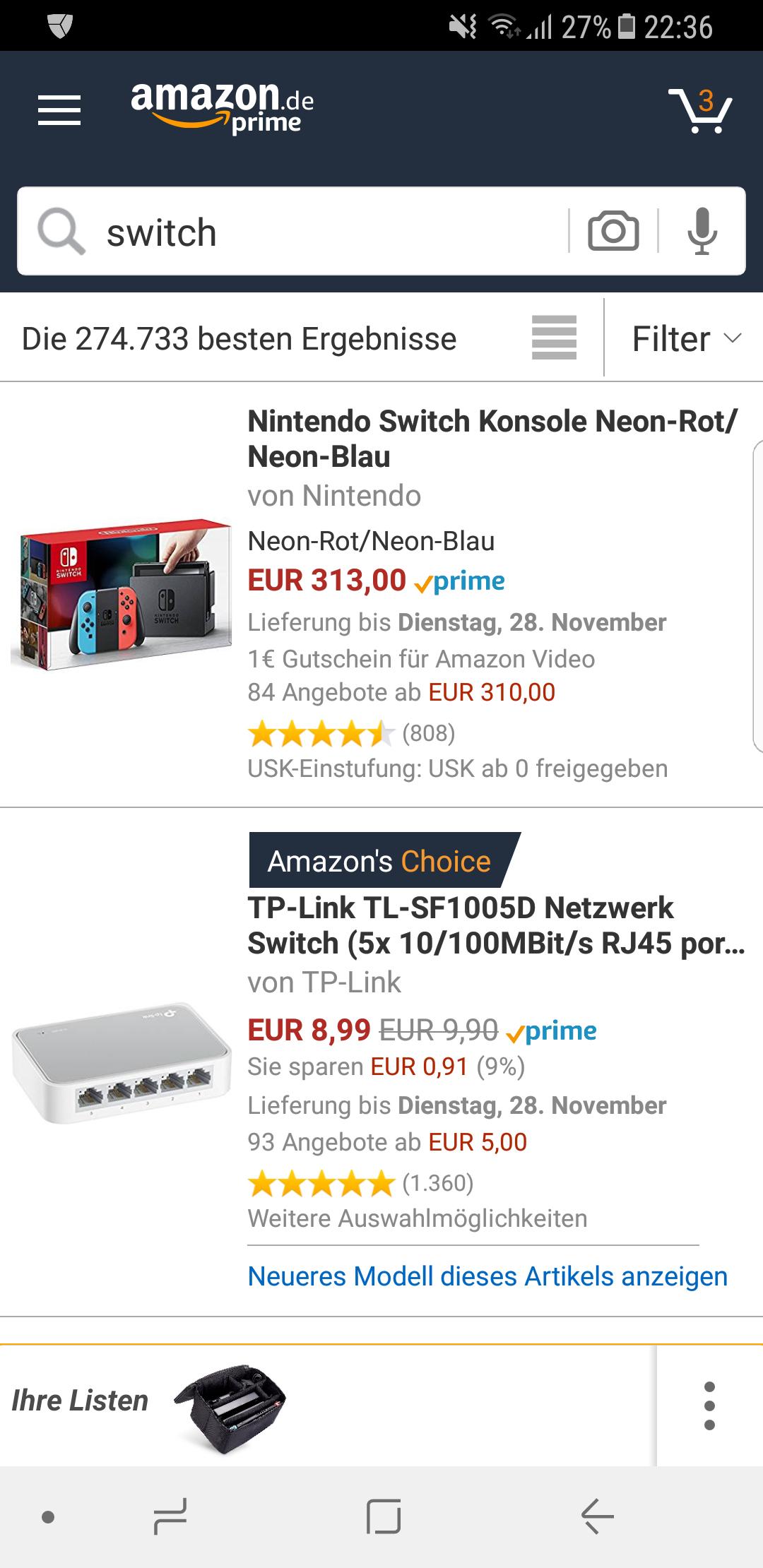 Amazon Nintendo Switch Update