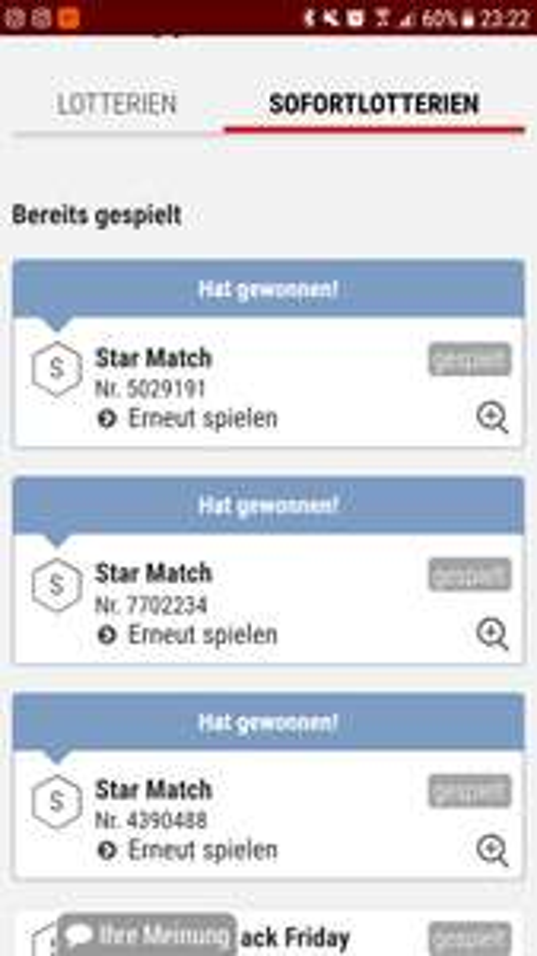 [tipp24] Black Friday Deal 3 Runden Star Match zum Preis von einer (ich habe in jeder Runde gewonnen) Bis ca. 23:30