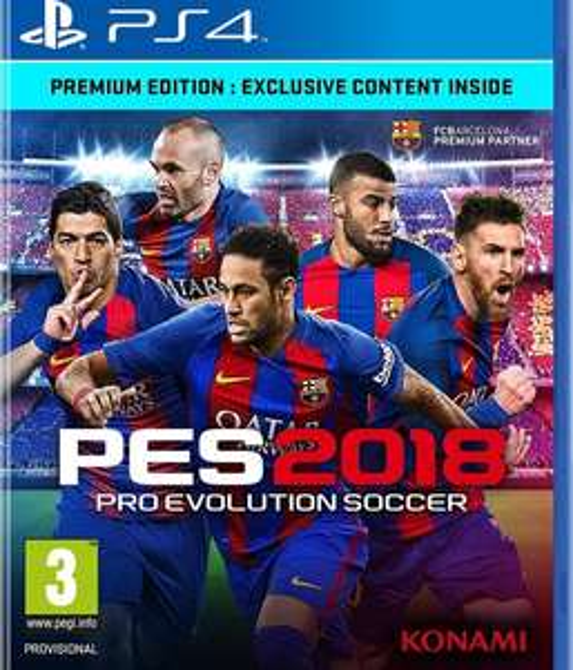 Alternate: Konami PES 2018 Premium Edition PS 4 und Xbox One plus Zugabe (Armbanduhr)