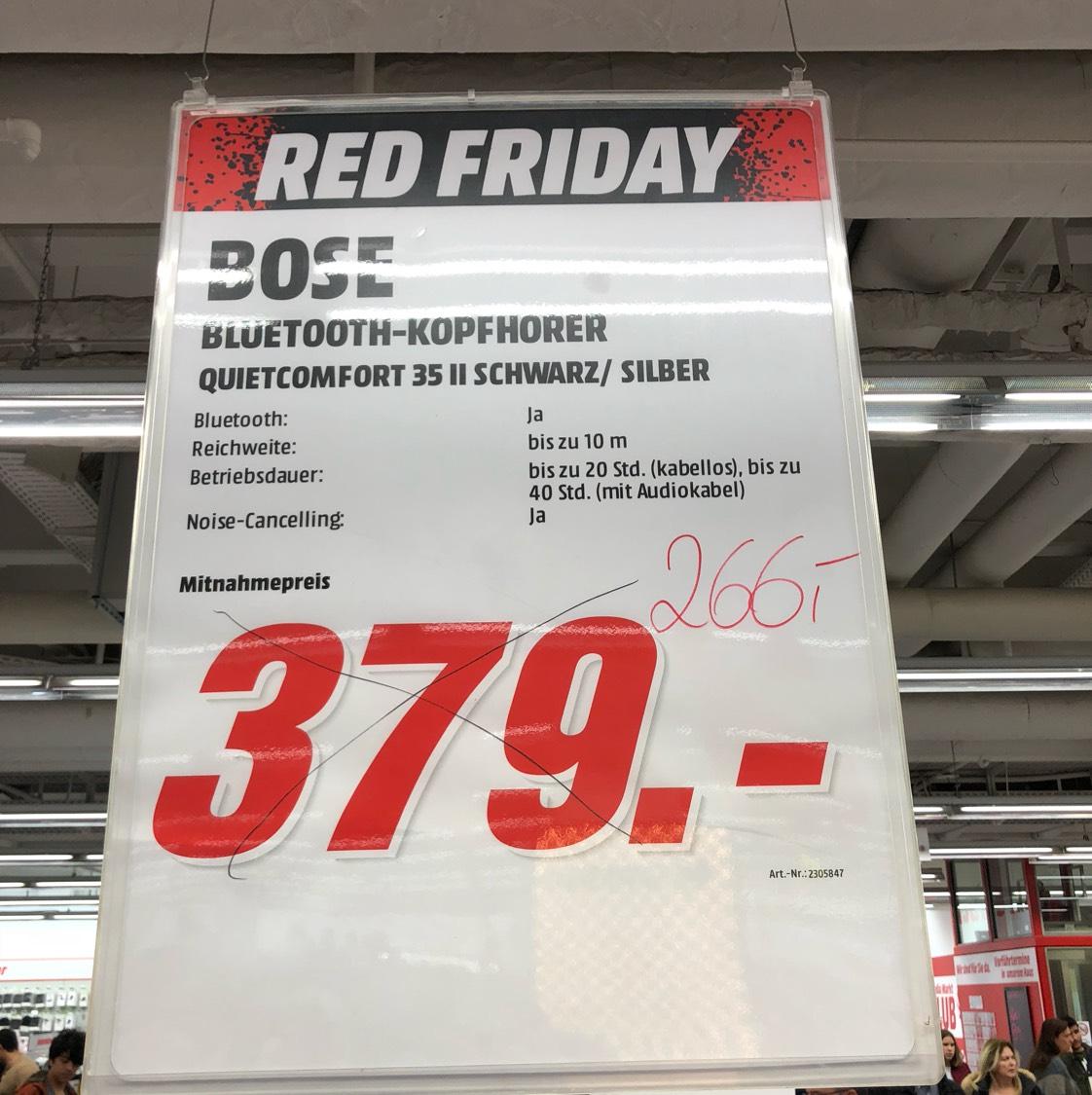 [Mediamarkt Ludwigsburg] Bose Quietcomfort QC35 II schwarz oder silber