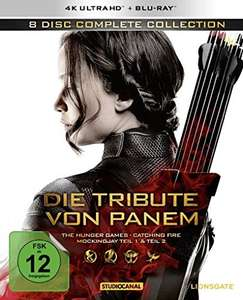 "Die Tribute von Panem @amazon.de z.B. ""8 Disc Complete Collection (4K Ultra HD) + Blu-Ray"" für 49,97€"