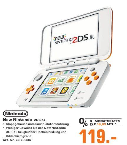 [Regional Saturn St.Augustin,Troisdorf,Siegburg und Hennef] NINTENDO New Nintendo 2DS XL (Weiß/Orange) für 119,-€