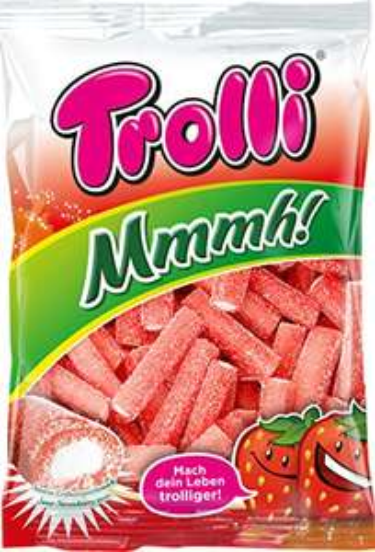 Trolli Mmmh Erdbeer gefüllte Stangen, 18er Pack (18 x 200 g)