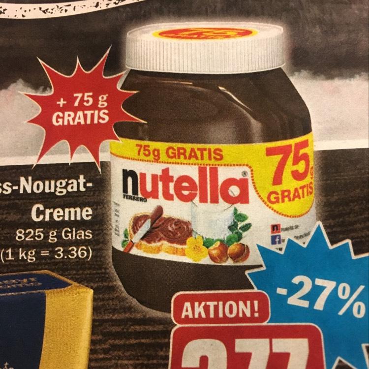 Nutella 825g Glass für 3,36 Euro (Hit) Lokal Kirchheimbolanden