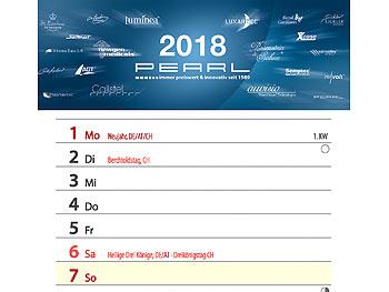 2 x PEARL Gratis Wandkalender 2018 zum Mitbestellen trotz zweiter Prämie