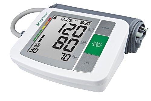 Medisana BU 510 Oberarm Blutdruckmessgerät mit Arrhythmie-Anzeige, Leichte Lesbarkeit, WHO Ampel-Farbskala [Prime]