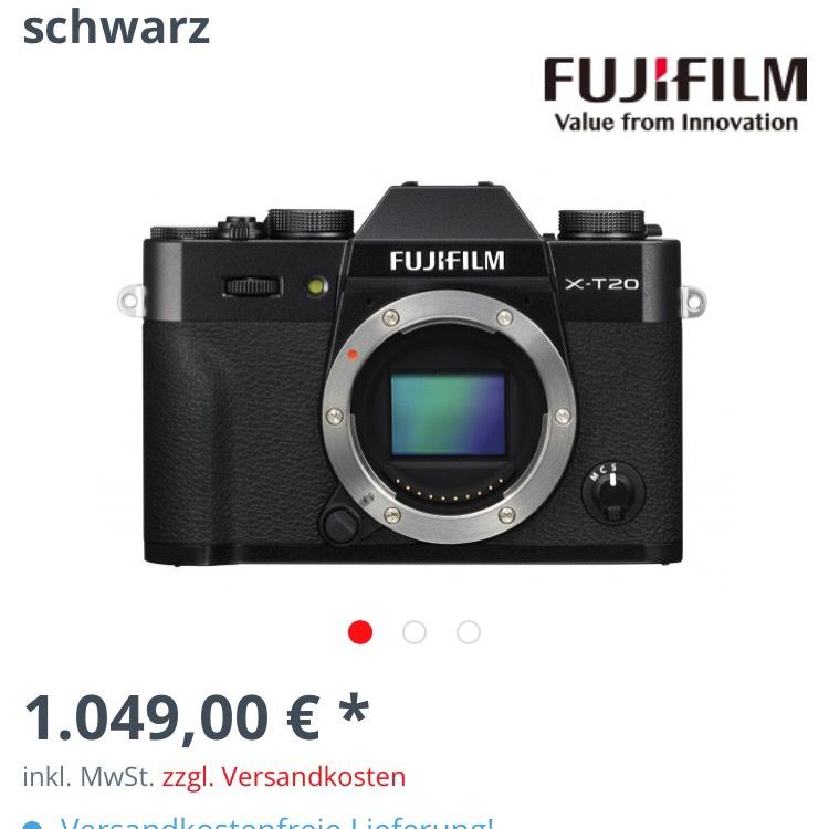 Online & bestimmt lokal: (bester Preis!) FUJIFILM X-T20 KIT XF 18-55mm schwarz
