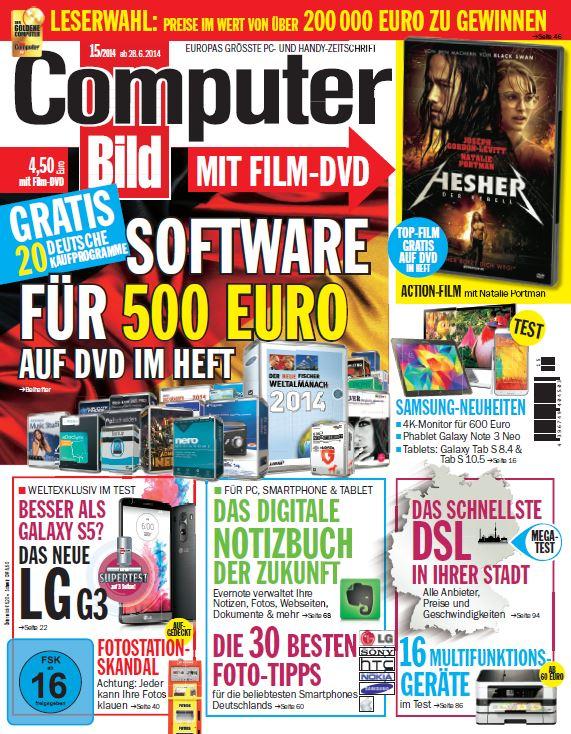 Computer Bild DVD oder Spiele 1 Jahr + Heizthermostat gratis![abo24]