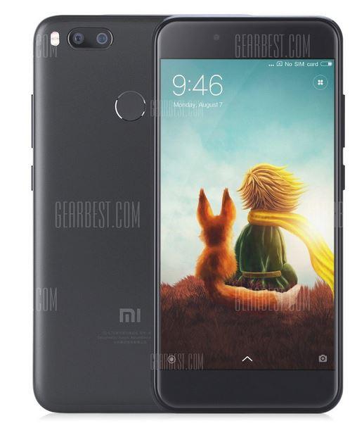 Xiaomi Mi A1 mit Band 20 in schwarz (5,5 Zoll, Snapdragon 625 Octa Core, 4GB RAM, 64GB ROM) - Gearbest