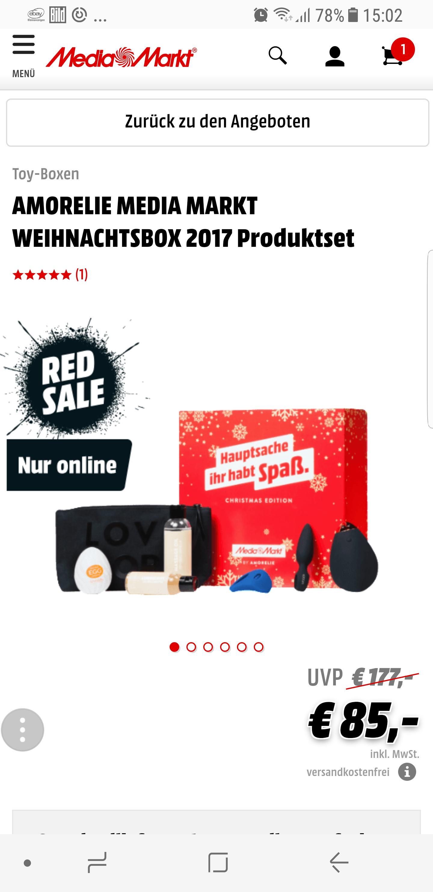 Amorelie Weihnachtsbox 2017 gtx Media Markt