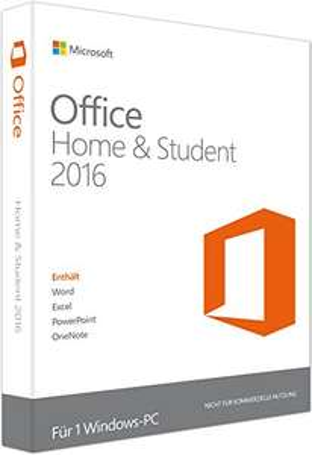 Microsoft Office Home & Student 2016 für 1 PC