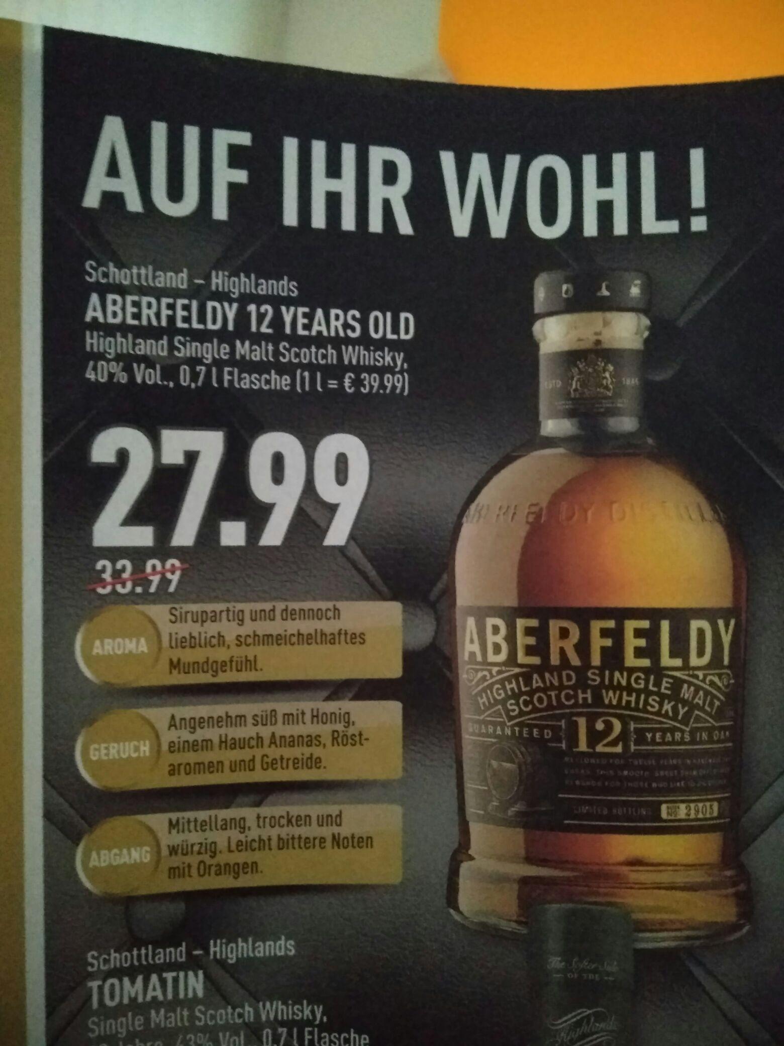 Aberfeldy 12 Scotch Whisky Lokal Marktkauf/Edeka OWL vielleicht ganz NRW