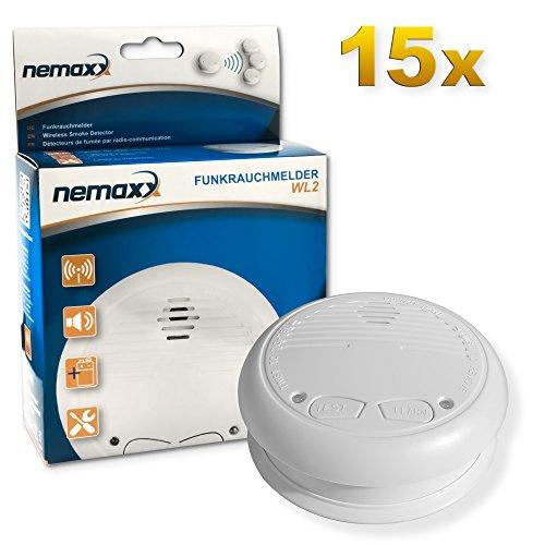[AMAZON] 15x Nemaxx WL2 Funkrauchmelder - Rauchmelder mit Funkmodul/koppelbar - Einzelpreis ab 15,30 € + VSK, VGP sind 15er Angebot. Lieferzeit beachten!