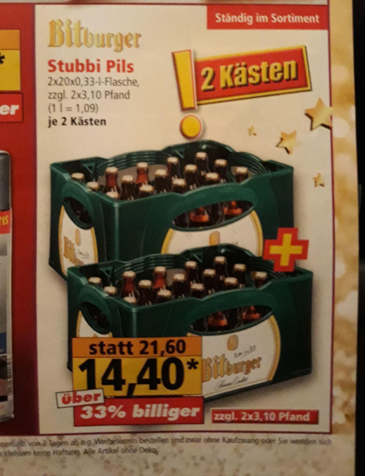 (Lokal Mönchengladbach) (Norma) 2x Bitburger Stubbi
