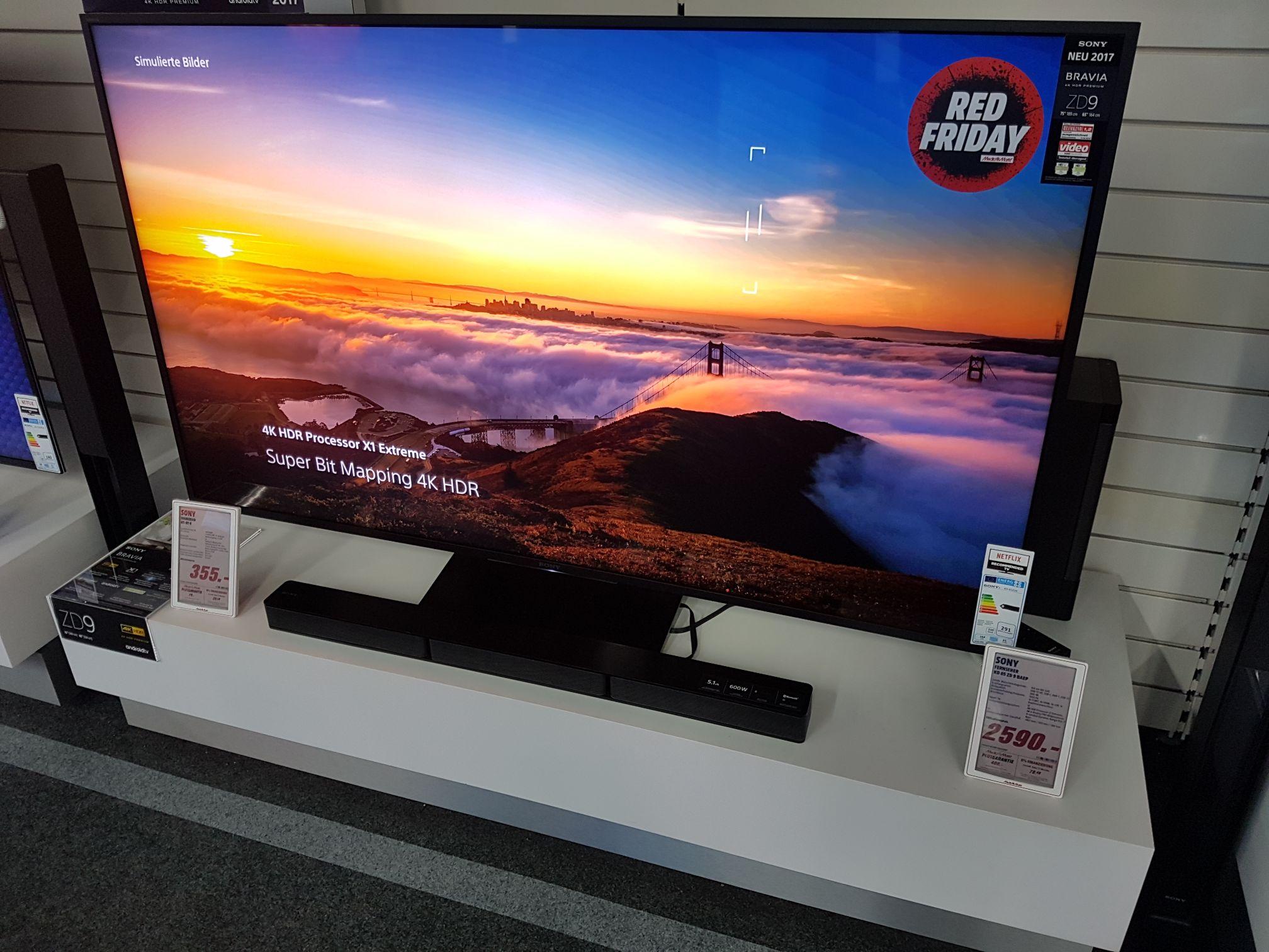 Lokal Media Markt Berlin Spandau Sony KD-65ZD9 KD 65 ZD9