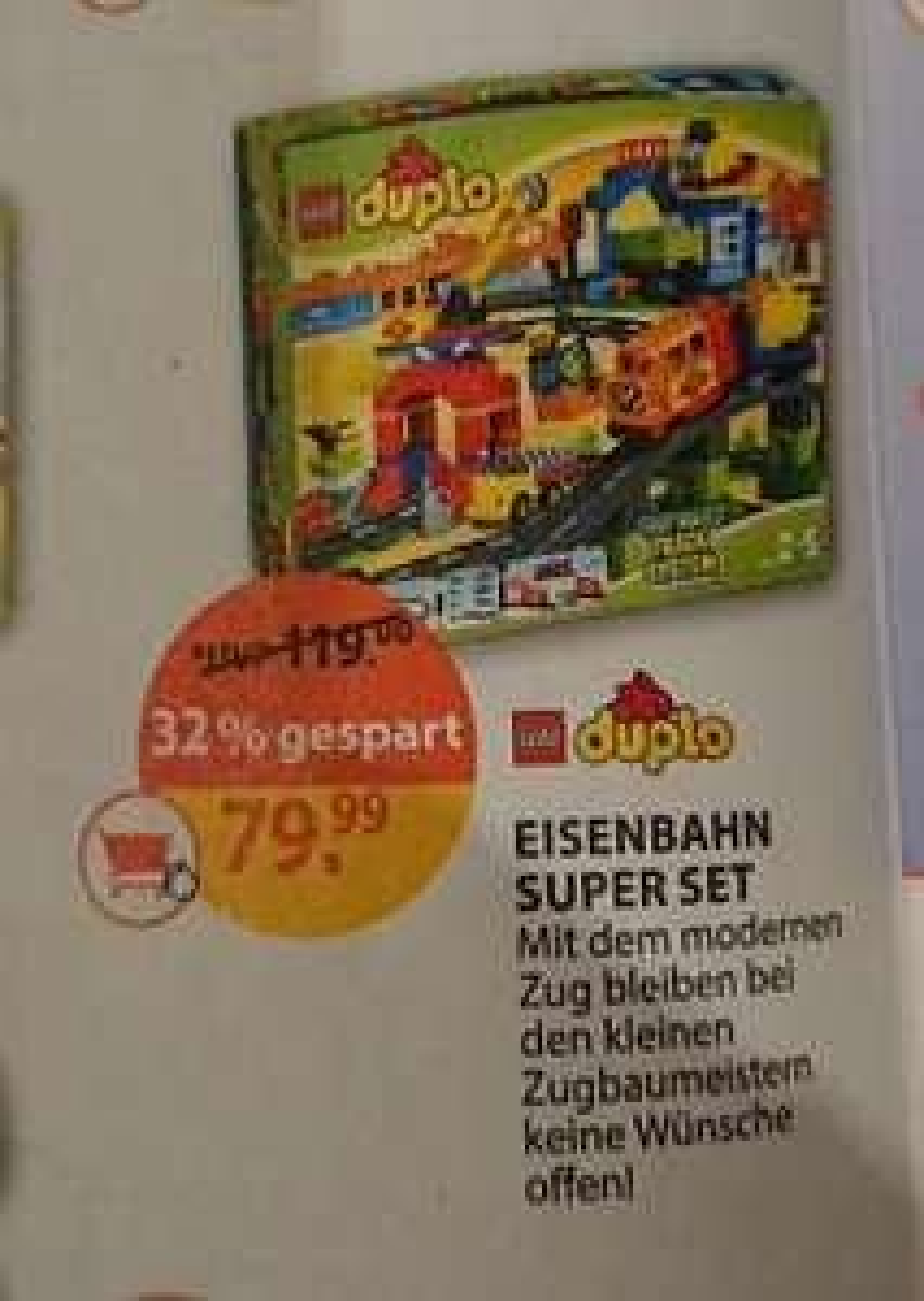 LEGO Duplo Eisenbahn Super-Set 10508 [Müller Lokal]