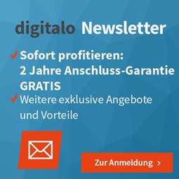 Digitalo.de - 2 Jahren Anschluss-Garantie gratis bei Newsletter Anmeldung