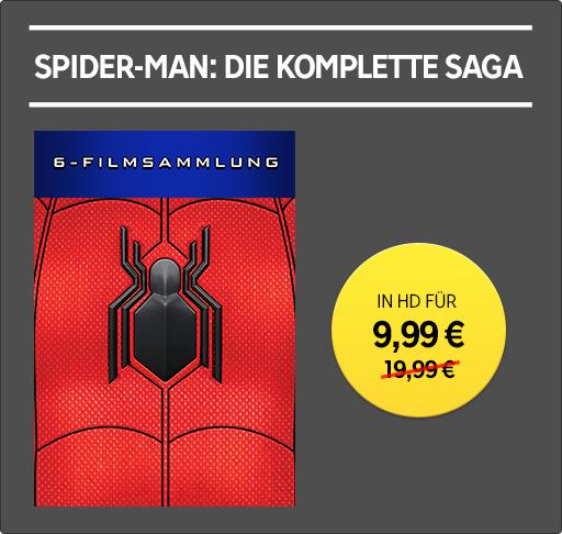 Die Spider-Man Saga 6 Filme (davon 5 in UHD, auch der Neuste)