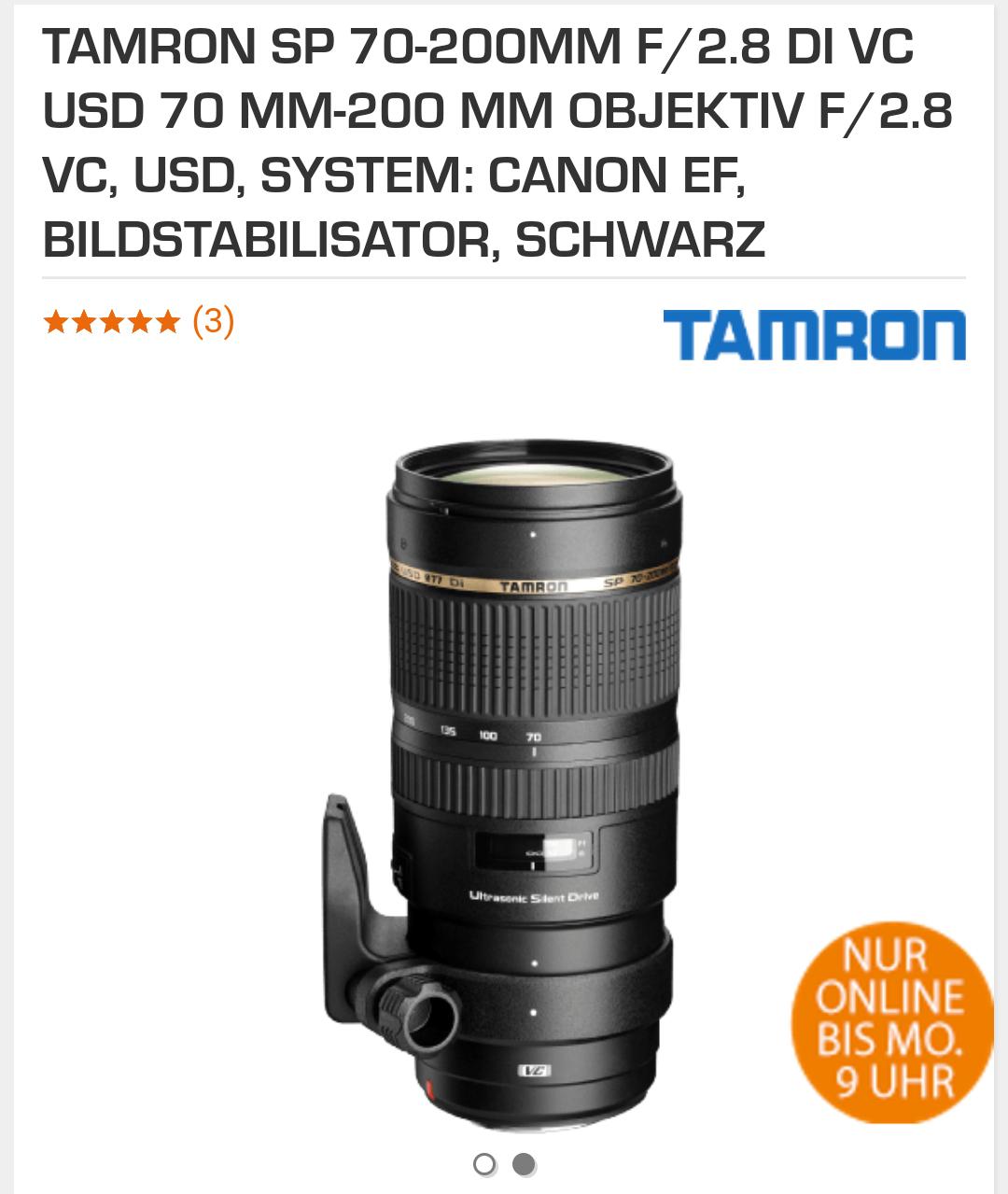 TAMRON SP 70-200MM F/2.8 DI VC USD  | Canon EF | Amazon
