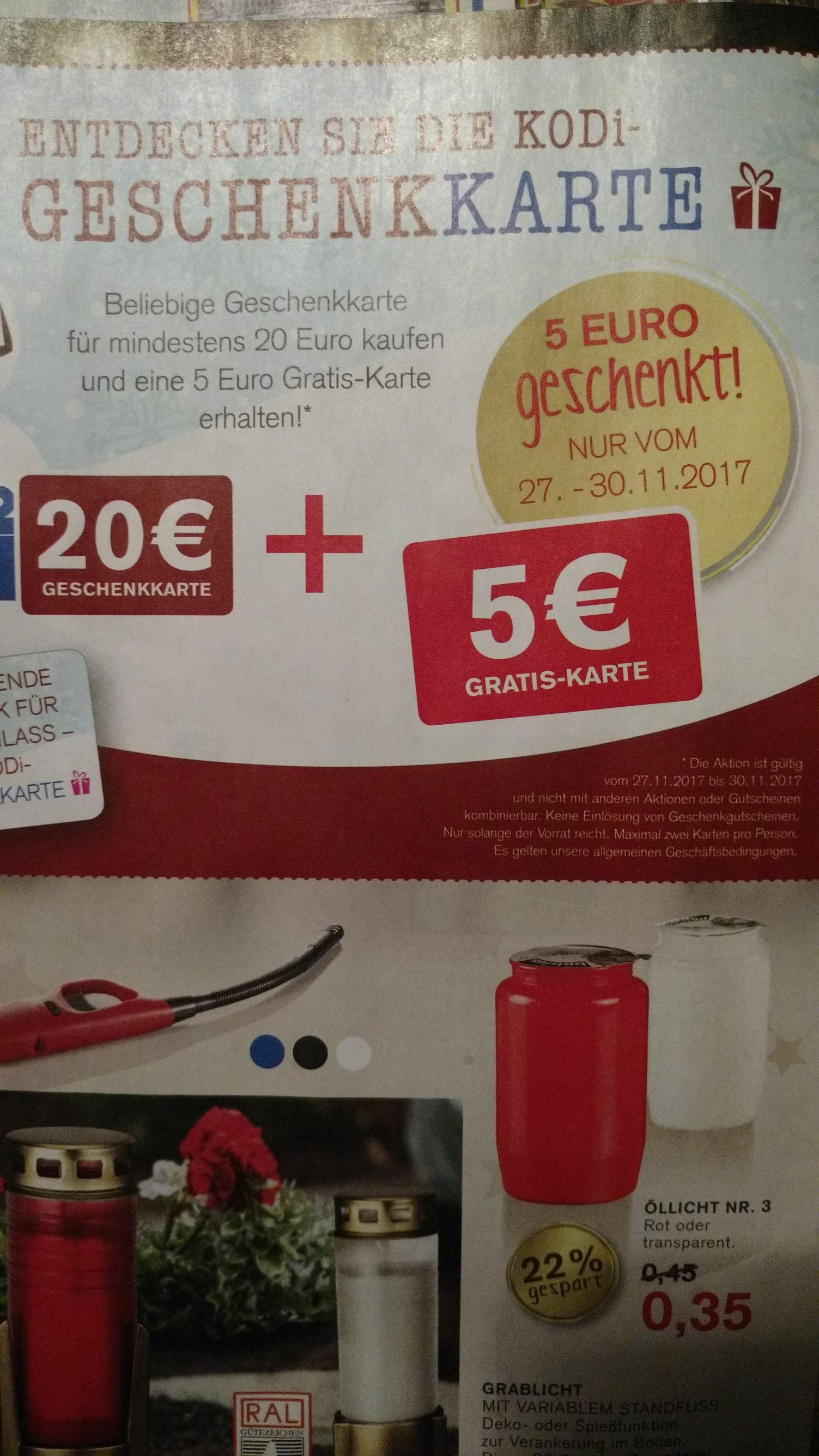 [Kodi] 20 Euro Geschenkkarte kaufen und 5 Euro Karte dazu bekommen.