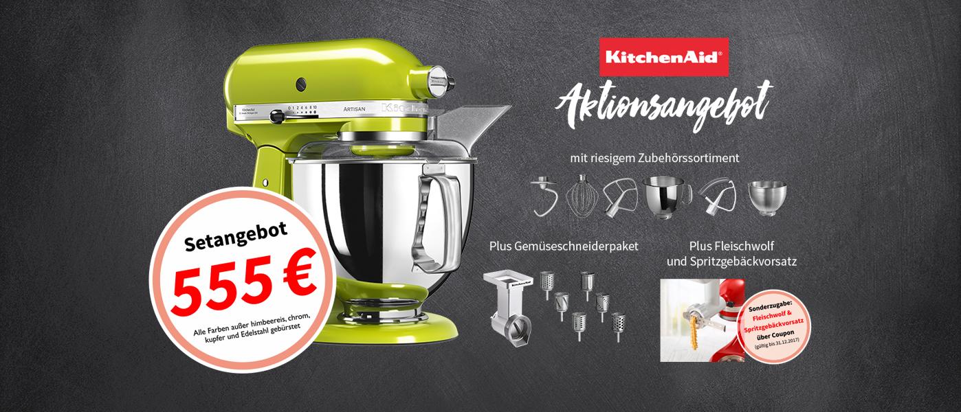 [offline cookmal] KitchenAid Artisan 5KSM175PS + Gemüseschneider + Gemüseschneider Zusatzset für 555€