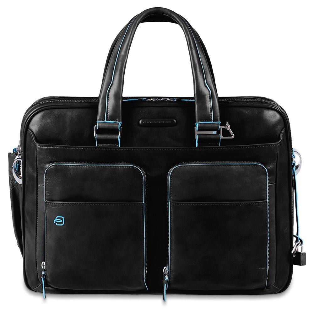 [Amazon IT] Piquadro Blue Square große erweiterbare Kurzgrifflaptoptasche in schwarz zum BESTPREIS