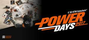 KTM Power Days 50€ Nachlass bei 200€ MBW