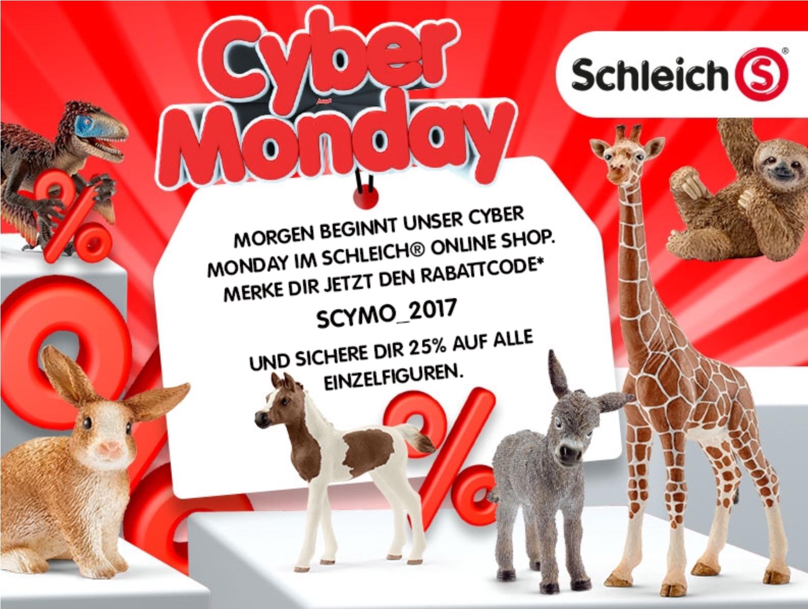 Schleich Shop 25% Rabatt am Montag 27.11.