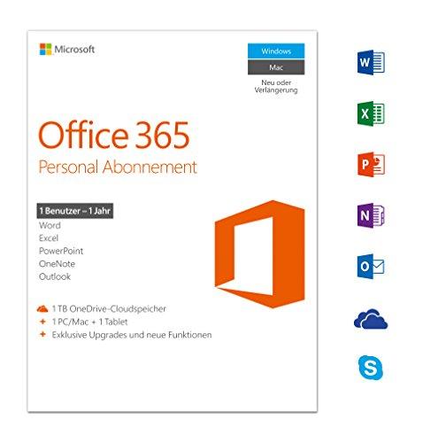 [AMAZON] Microsoft Office 365 Personal multilingual | 1 Gerät | 1 Jahresabonnement