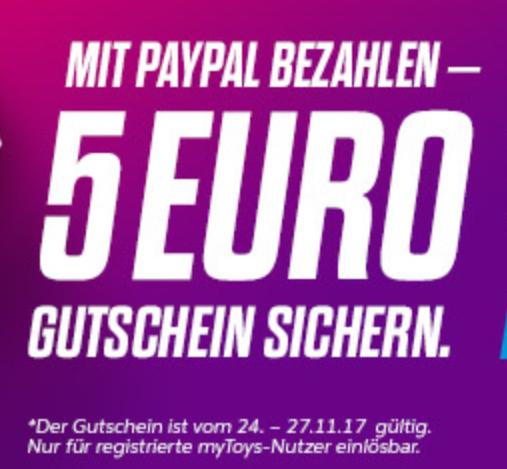 Mytoys Paypal 5 Eur Gutschein
