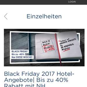 NH hotels    45% Rabatt mit rewards