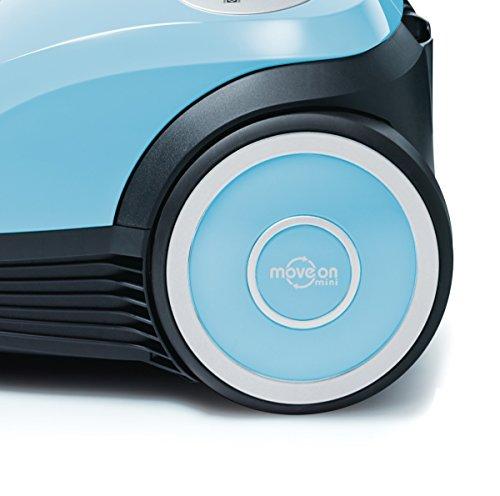 [amazon] Bosch MoveOn Mini BGL25A100 Bodenstaubsauger (600 W, 3,5l Staubbeutelvolumen, 8m Aktionsradius) aqua pastel [Energieklasse A]